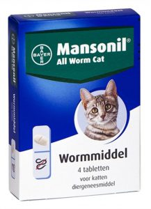 mansonil-all-worm-cat-ontworming-kat-4-tabletten